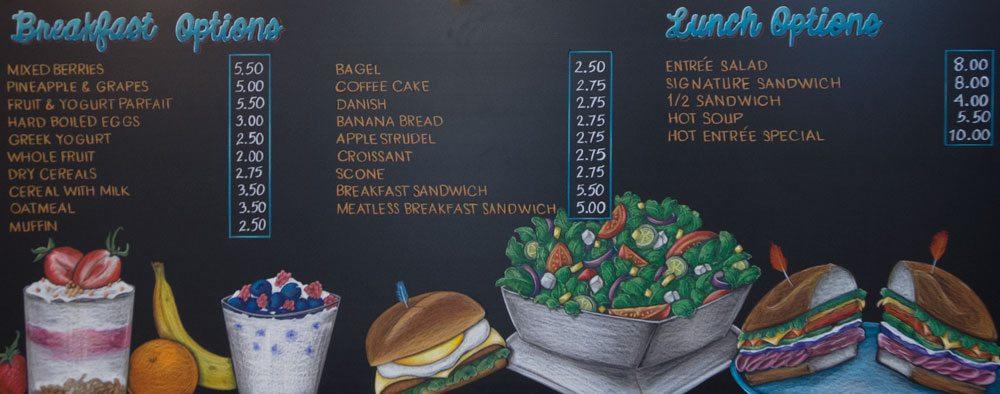 menu chalkboard world trade center chicago, breakfast, Chalk It Up Signs, breakfast menu, menu, chalkboard, world trade center, Chicago, food images, coffee, hand drawn lettering, cafe, chalkboard sign,