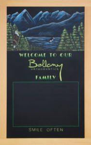 Nanaimo, Custom Office Chalkboard, Canada, British Columbia, Chalkboard, Chalk Art, Chalk It Up Signs, Chalk Artist, Whales, Mountains, Ocean