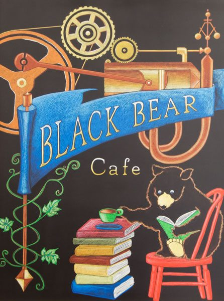 Black Bear Cafe Chalkboard Menu