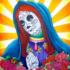Dia de los Muertos Custom Chalkboard Art