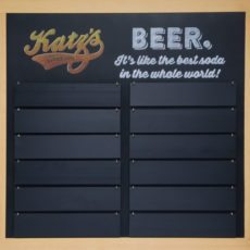 Removable Slats Chalkboard Sign For Katz's Deli in Texas