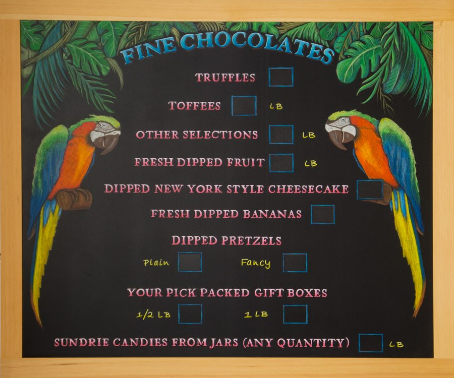 Panama City Beach Ice Cream Chalkboard