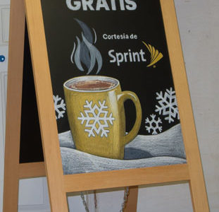 A-Frame Chalkboards for Sprint in Spanish & English