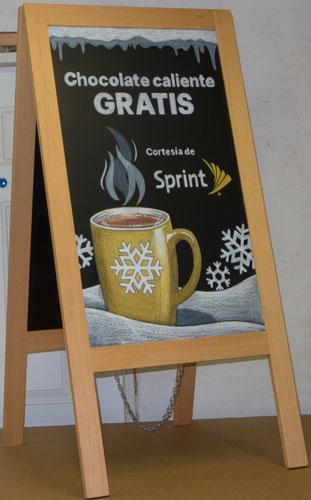 Spanish Sidewalk Chalkboard Sign